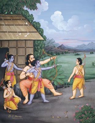 Wiswamitra menjadi guru para pangeran Ayodhya