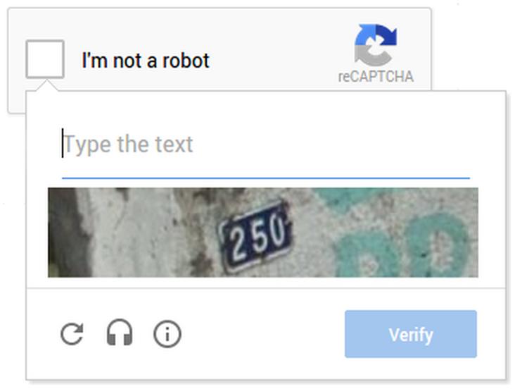 noCaptcha reCaptcha