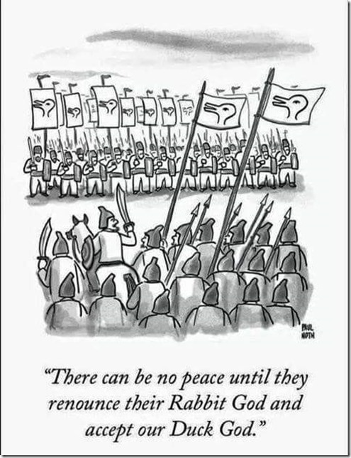 No Peace in the Name of God