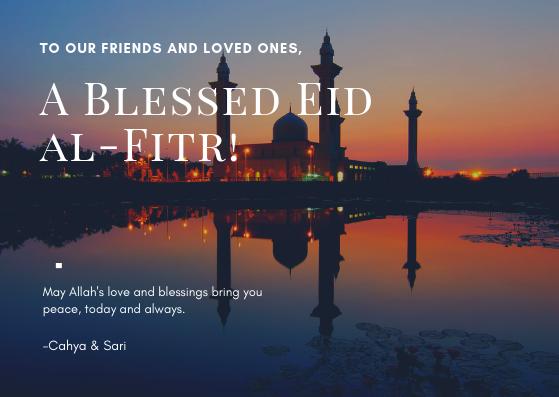 A Blessed Eid al-Fitr!